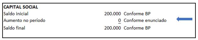 Exemplo de DFC - Identificação de movimentações das contas contábeis - Exemplo 13